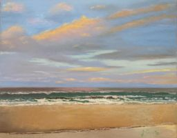 Ocean and beach Pastel landscape (finished) by virtuosoale