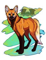 Maned Wolf - In Shop! by Temrin