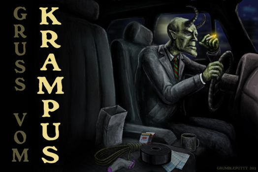 Krampus Postcard by Grumbleputty