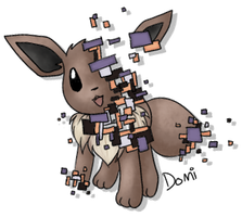 glitch!Eevee by Domiric