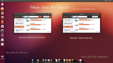 Ubuntu theme For Win 8/8.1(Updated) by Cleodesktop