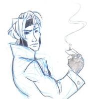 Gambit - sketchy by Lusc-Fire