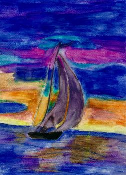 Sailboat in the Sunset by CassieCros13