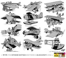 12 Flying Machine concepts by STUDIOBLINKTWICE