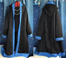 Blue and Black Oversize Wizard Robes by SilverHauntArmoury