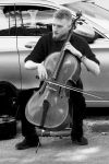 A Cello Busking by Earth-Hart