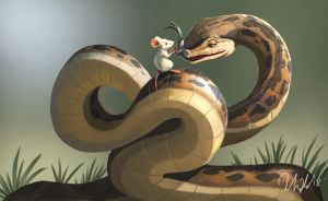 A story about mouse and snake by cicakkia