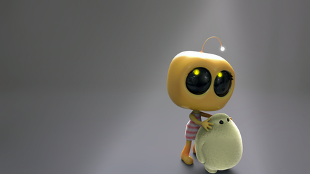 Zbrush Doodle Day 948 -  - Robot Kid Version 38 by UnexpectedToy