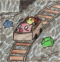 Kirby 64: Riding the Mine Cart by 4everKirby