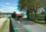 Near the cinema 3 3D Anaglyph by xmancyclops