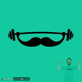 The Strong Beard @threadless (minimal challenge) by mrsbadbugs