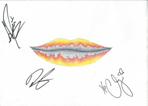 Lips Like Fire Signed by Against The Current by Little-Buffalo
