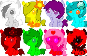 Pony Adopts Set 22 (SOLD OUT) by ShinySmeargle