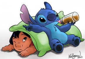 lilo n stitch by chocolatecherry