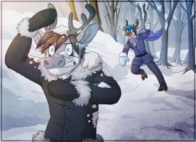 Snowball Fight by Atimos