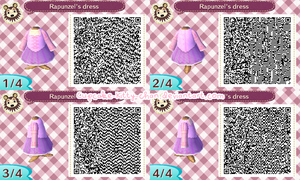 QR Code: Rapunzel's Dress by Sugary-Stardust