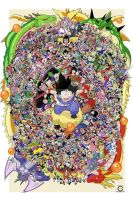 Every Dragon Ball Character Collage by ccayco