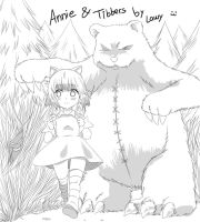 Annie and Tibbers by lawy-chan