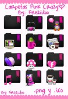 Icons Folders Pink Crazy by Freziitoo