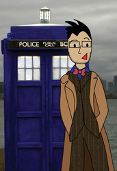 Darkly and Tardis by mapgie