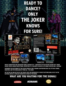 Batman: The Video Game by Konami mock-advertisemen by silenig