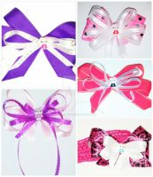 Hello Kitty Hair Accessories Collage by wolf-girl87