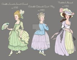 Detail of Timeline of Spring Fashion: 1778-1786 by a-little-bit-lexical