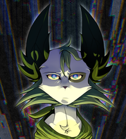 A glitched miko by leafadee