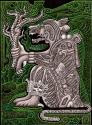 Jaguar God of the Underworld by A-D-McGowan