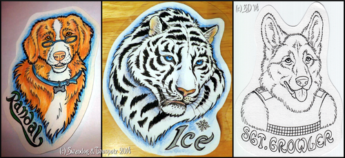 NFC Conbadge Commissions (Collab) by swandog