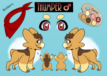 + Thumper Reference Sheet + by KillerLillers