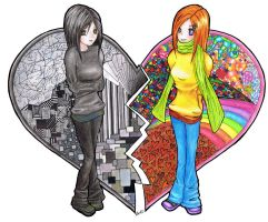Two Sides of my Heart by xbooshbabyx