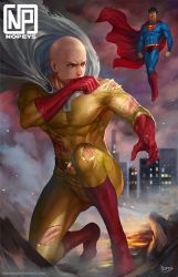 SAITAMA VS SUPERMAN by NOPEYS