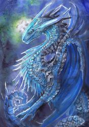 Blue Dragon by dawndelver