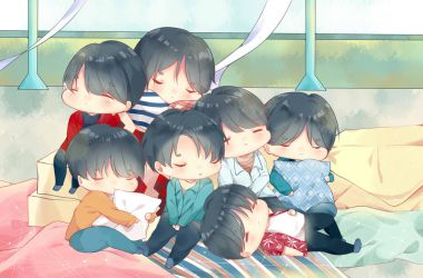 (+video) Chibi BTS Euphoria by aikopinku
