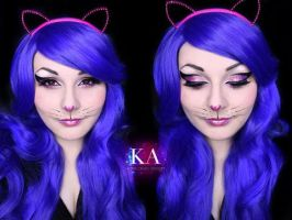 Glittery Cat Halloween Makeup w/ Tutorial by KatieAlves
