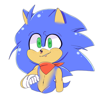 Sonic - Cell Shade by Wade-Doodles