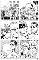 Me inking Mike Allred pg 2 by Devilpig