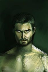 Arrow Stephen Amell fanart by gamerfan2000