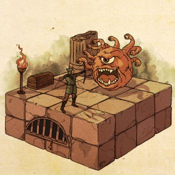 Dungeons and Dragons: Beholder Encounter by Deimos-Remus