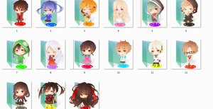 Kagerou Project folder icons by Ginokami6