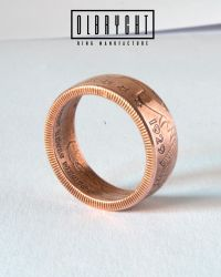 Indian American Liberty copper handmade ring. by OlbrychtRings
