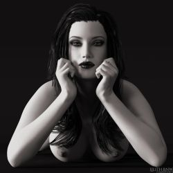 Lilith BnW by OneSix3d