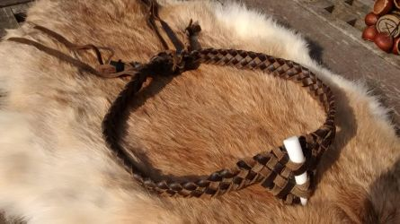Woven Leather headband by MeridithRose
