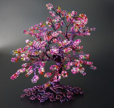 Hot mess: Bead and wire tree of life by Twystedroots