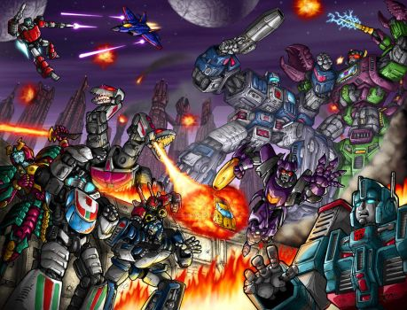 The Final Battle... coloured by DavimusPrime