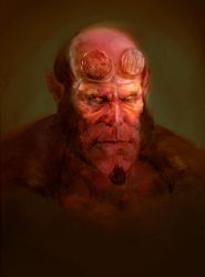 Hellboy - Color by Manzanedo