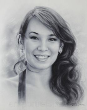 Portrait lovely girl by Drawing-Portraits