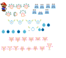Pixls set A (Super Paper Mario) by DerekminyA