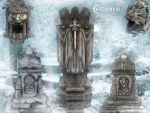 Unholy statues by PaleVirus